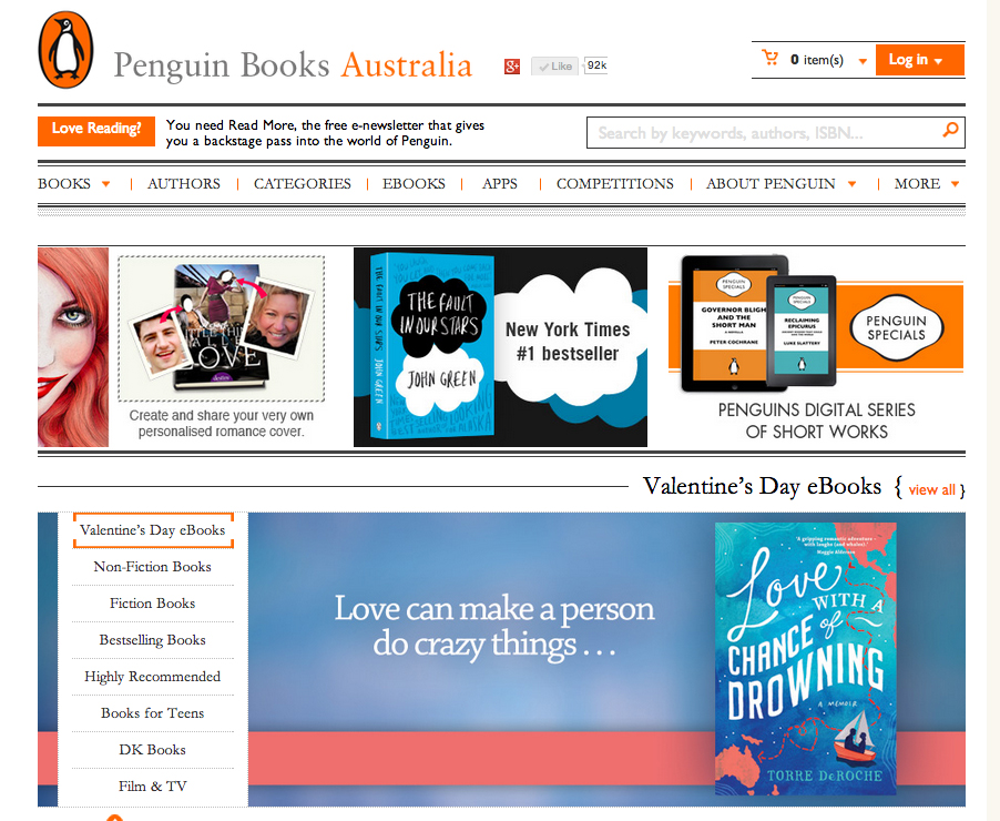 Penguin Homepage