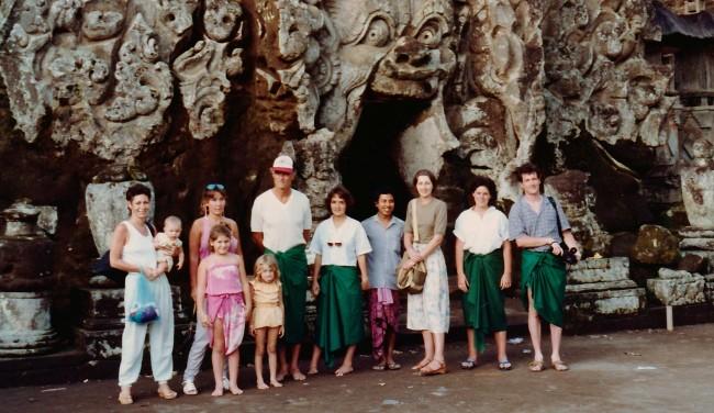 DeRoche family in Bali