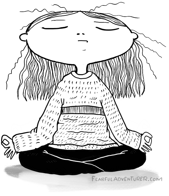 Girl in meditation